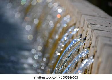 splashing transparent natural clear water
