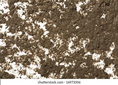 Splattered mud background