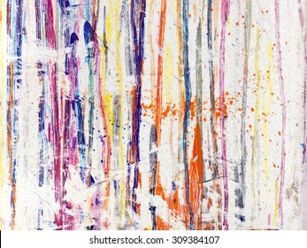 Splattered paint on white background
