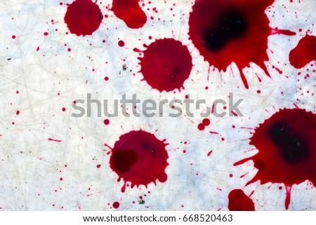 splatters fresh human bright red blood stock photo edit now