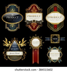 splendid label collection set with black and gold