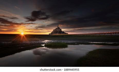 The splendid Mont St-Michel in France, Normandie