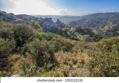 Splendid nature area of Los Alcornocales Nature Reserve