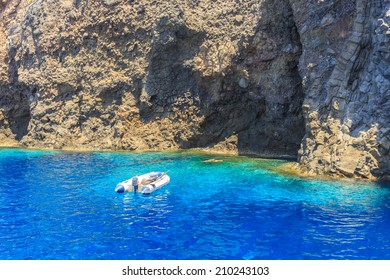 Splendid portion of the Filicudi Island where the sea is trasparent like a swimming pool