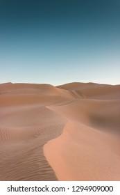 Splendid sandy dunes in the Sahara Desert, Tunisia, Grand Erg Oriental, adventure travel