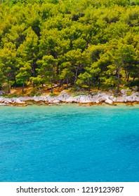 Splendid seascape of lagoon near Tribunj village. Location Dalmatia region, Balkans, Croatia, Europe. Calm Adriatic Sea. Scenic image of popular travel destination. Discover the beauty of earth.
