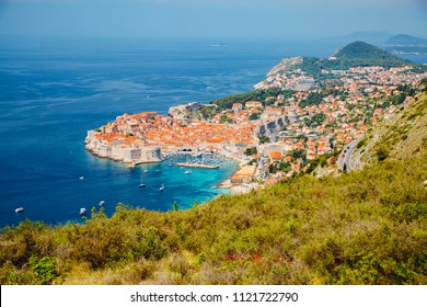 Splendid view at famous european travel destination city of Dubrovnik on sunny day. Location place Croatia, South Dalmatia, Europe. Scenic image of popular travel resort. Discover the beauty of earth.