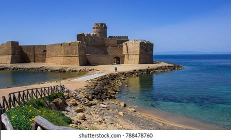 Splendid view of Le Castella. Crotone, Calabria, Italy. June 10, 2017.