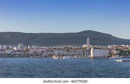 SPLIT, CROATIA - JULY 1, 2016:Town Split with Diocletian's palace