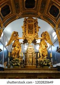 Split, Croatia, July 24, 2018: Saint Domnius Cathedral in Split, Croatia, originated in the 7th century AD in the Diocletian's Mausoleum,