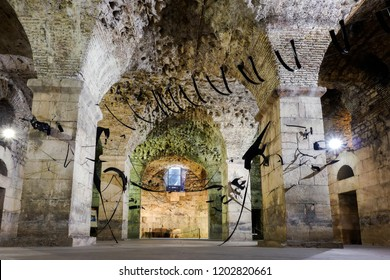 Split, Croatia, July 24, 2018: Diocletian's Palace intended as the retirement residence for the Roman Emperor Diocletian, built in the 4th century AD in Split, Croatia