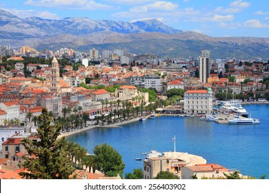 Split, Croatia (region of Dalmatia). UNESCO World Heritage Site. Mosor mountains in background.