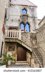 SPLIT, CROATIA - SEPTEMBER 2, 2009: The Papalic palace which houses the city's museum