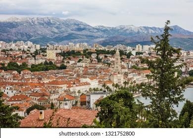 Split, Croatia. Town houses panoramic view