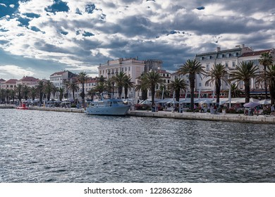 SPLIT, CROATIA-JUNI 30, 2018: Split is the second-largest city of Croatia and the largest city of the region of Dalmatia,