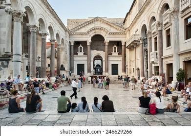 Split - Croatian - Dalmatia - August 28, 2014 Diocletian's Palace in Split, Croatia