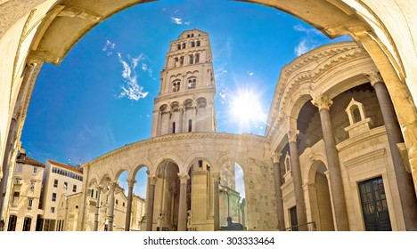 Split historic Peristil UNESCO world heritage site, Dalmatia, Croatia