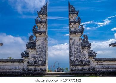 The split holi gate to Heavens in Pura Lempuyang temple, Bali, Indonesia.