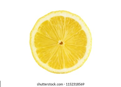 split lemon isolated on white background with clipping path.