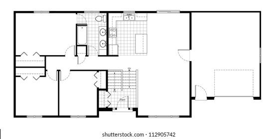 Split Level House Floor Plan