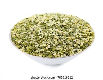 Split Mung Bean Lentils Also Know as Mungbean, Green Moong Bean, Mung Gram