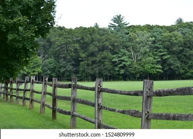 Split rail fence at Borderland State Park