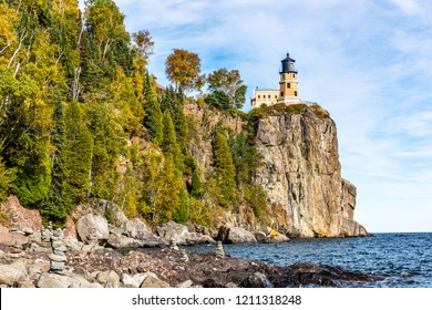 Split Rock Lighthouse High Above Lake Superior in Northeastern Minnesota