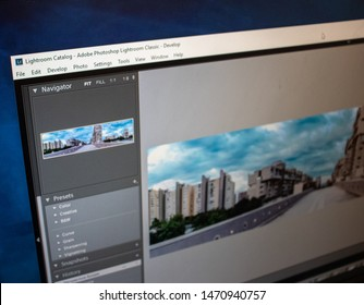 Split,Croatia August 4th 2019 Adobe Lightroom editing software desktop