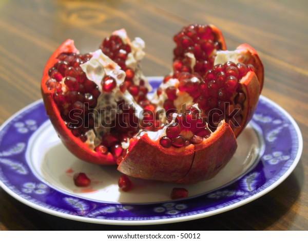 Split-Open Pomegranate