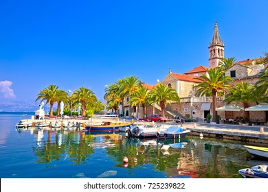 Splitska on Brac island seafront and landmarks view, Dalmatia region of Croatia