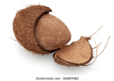 Splitted coconut with crust