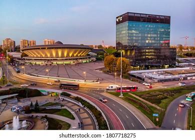 Spodek Sports and Entertainment Hall. Katowice, Poland. KATOWICE, POLAND - October 11, 2019