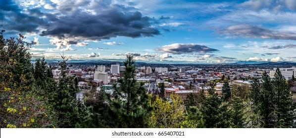 Spokane city view on a sunny day