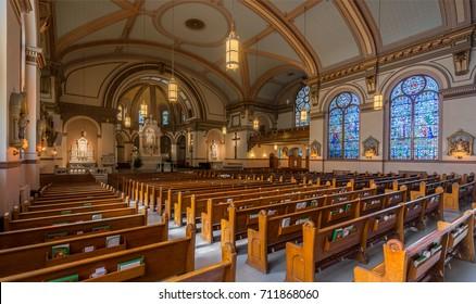 SPOKANE, WASHINGTON - JULY 24: St. Aloysius Catholic Church on the campus of Gonzaga University on July 24, 2017 in Spokane, Washington