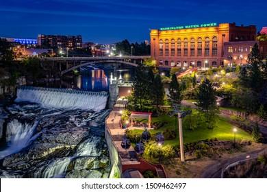 Spokane, Washington, USA - Aug 31, 2019: Washington water power