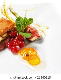 Sponge Cake with Chocolate and Pistachio Mousse and Fresh Berries