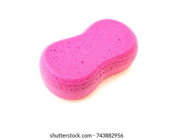 sponge on white background