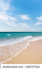 Sponge water waves on beach, thailand