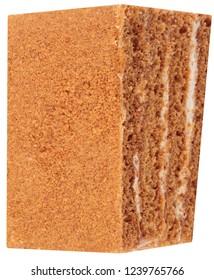 Sponge-cake Isolated at day
