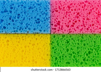 sponges detail texture, sponge texture closeup background, colorful sponges texture..