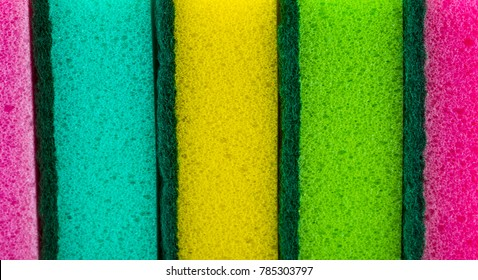 sponges detail texture, sponge texture closeup background, colorful sponges texture.