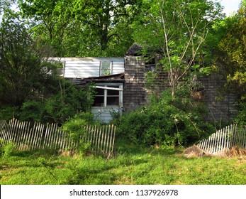 Spooky abandoned house.