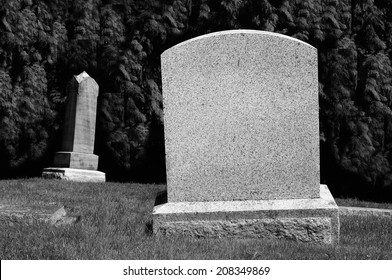 Spooky Blank Tombstones