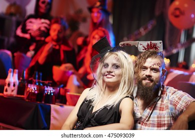 Spooky couple at the party