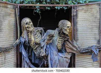 Spooky Halloween Skeletons