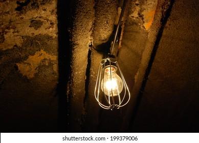 Spooky old light bulb
