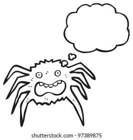 spooky spider cartoon