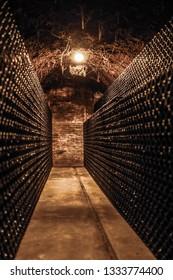 Spooky wine cellar