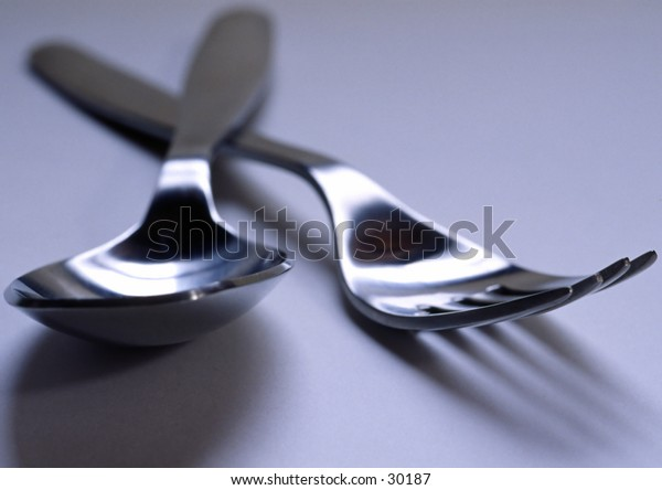 Spoon and a fork.