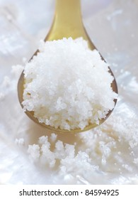 Spoonful of Fleur de sel sea salt from Guérande